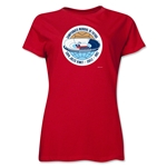 1962 FIFA World Cup Chile Women's Historical Emblem T-Shirt (Red)