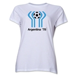 1978 FIFA World Cup Argentina Women's Historical Emblem T-Shirt (White)