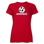 1990 FIFA World Cup Italy Women's Historical Emblem T-Shirt (Red)