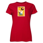 1958 FIFA World Cup Sweden Women's Historical Emblem T-Shirt (Red)