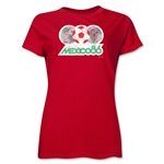 1986 FIFA World Cup Mexico Women's Historical Emblem T-Shirt (Red)