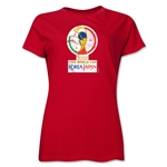 2002 FIFA World Cup Korea Japan Women's Historical Emblem T-Shirt (Red)