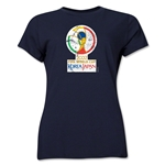 2002 FIFA World Cup Korea Japan Women's Historical Emblem T-Shirt (Navy)
