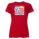 1994 FIFA World Cup USA Women's Historical Emblem T-Shirt (Red)