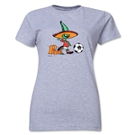 1986 FIFA World Cup Pique Women's Mascot Logo T-Shirt (Grey)