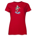 1990 FIFA World Cup Ciao Women's Mascot Logo T-Shirt (Red)
