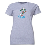 1990 FIFA World Cup Ciao Women's Mascot Logo T-Shirt (Grey)