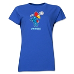1998 FIFA World Cup Footix Women's Mascot Logo T-Shirt (Royal)