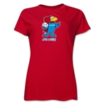 1998 FIFA World Cup Footix Women's Mascot Logo T-Shirt (Red)