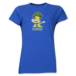 2010 FIFA World Cup Zakumi Women's Mascot Logo T-Shirt (Royal)
