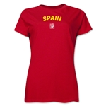 Spain FIFA U-17 Women's World Cup Costa Rica 2014 Women's Core T-Shirt (Red)