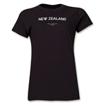 New Zealand 2013 FIFA U-17 World Cup UAE Women's T-Shirt (Black)