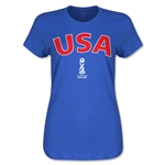 USA FIFA U17 World Cup Chile 2015(TM) Women's T-Shirt (Royal)