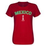 Mexico FIFA U17 World Cup Chile 2015(TM) Women's T-Shirt (Red)