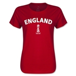 England FIFA U17 World Cup Chile 2015(TM) Women's T-Shirt (Red)