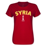 Syria FIFA U17 World Cup Chile 2015(TM) Women's T-Shirt (Red)