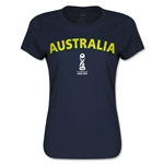 Australia FIFA U17 World Cup Chile 2015(TM) Women's T-Shirt (Navy)