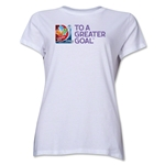 FIFA Women's World Cup Canada 2015(TM) Event Slogan Women's T-Shirt (White)