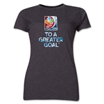 FIFA Women's World Cup Canada 2015(TM) Event Slogan Women's T-Shirt (Dark Gray)