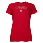 Canada FIFA Women's World Cup Canada 2015(TM) Women's T-Shirt (Red)