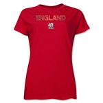 England FIFA Women's World Cup Canada 2015(TM) Women's T-Shirt (Red)
