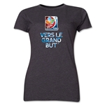FIFA Women's World Cup Canada 2015(TM) Women's French Slogan T-Shirt (Dark Grey)