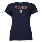 France FIFA Women's World Cup Canada 2015(TM) Women's T-Shirt (Navy)