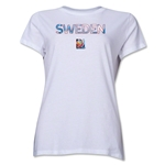 Sweden FIFA Women's World Cup Canada 2015(TM) Women's T-Shirt (White)