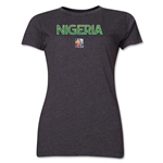 Nigeria FIFA Women's World Cup Canada 2015(TM) Women's T-Shirt (Dark Grey)