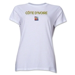Cote d'Ivoire FIFA Women's World Cup Canada 2015(TM) Women's T-Shirt (White)