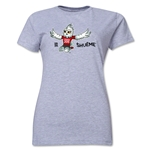 FIFA Women's World Cup Canada 2015(TM) Women's Mascot Pose 2 T-Shirt (Grey)