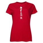 FIFA Women's World Cup Canada 2015(TM) Women's French Trophy 1 T-Shirt (Red)