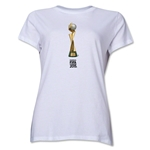 FIFA Women's World Cup Canada 2015(TM) Women's French Trophy II T-Shirt (White)