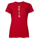 FIFA Women's World Cup Canada 2015(TM) Women's French Trophy II T-Shirt (Red)