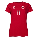 England FIFA Women's World Cup Canada 2015(TM) Player Women's T-Shirt (Red)