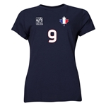 France FIFA Women's World Cup Canada 2015(TM) Player Women's T-Shirt (Navy)