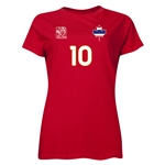 Thailand FIFA Women's World Cup Canada 2015(TM) Player Women's T-Shirt (Red)