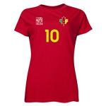 Cameroon FIFA Women's World Cup Canada 2015(TM) Player Women's T-Shirt (Red)