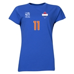 Netherlands FIFA Women's World Cup Canada 2015(TM) Player Women's T-Shirt (Royal)