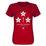 USA FIFA Women's World Cup Champions Women's T-Shirt (Red)