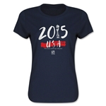 USA Women's World Cup Champions Women's T-Shirt (Navy)