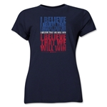 I Believe Women's T-Shirt (Navy)
