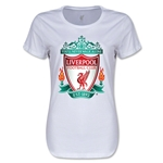 Liverpool Crest Women's T-Shirt (White)