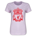 Liverpool Distressed Crest Women's T-Shirt (Pink)