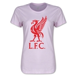 Liverpool Distressed Liver Bird Women's T-Shirt (Pink)