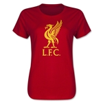 Liverpool Halftone Women's T-Shirt (Red)