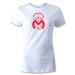 Morelia Monarcas Distressed Logo Women's T-Shirt (White)