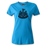 Newcastle United Distressed Crest Women's T-Shirt (Turqouise)