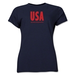 USA Powered by Passion Women's T-Shirt (Navy)