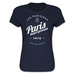 Paris Saint-Germain Circle Script Women's T-Shirt (Navy)